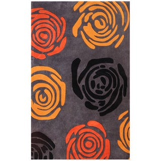 Hand-tufted Symphony Floral Rug (8' x 11')