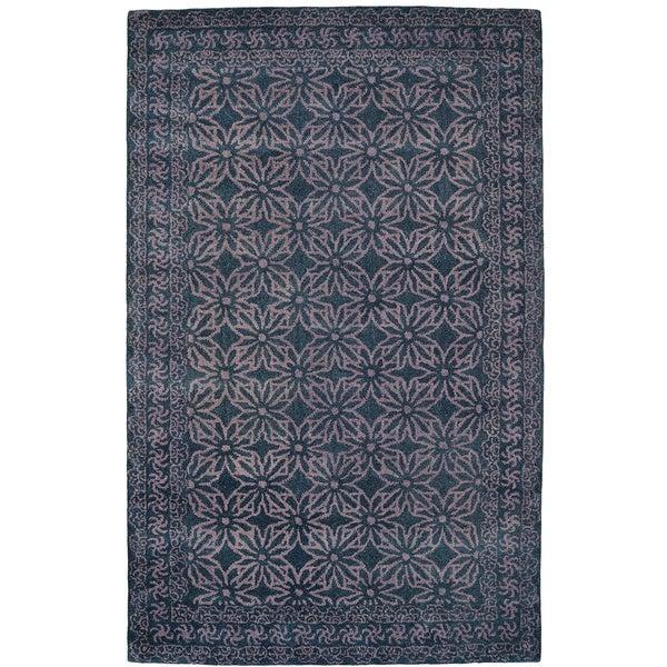 Paragon Dark Grey Wool Rug (8' x 11')