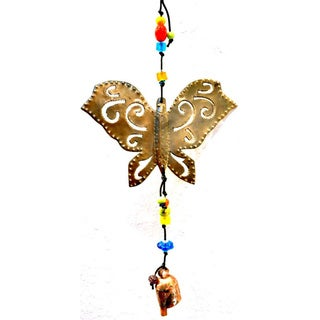 Handmade Isn't It Lovely Butterfly Wind Chime (India)