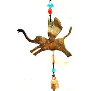 Handmade Look I Am Flying Elephant Wind Chime (India)