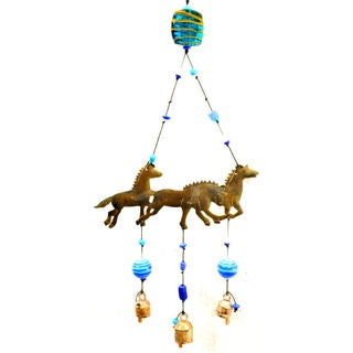 Handmade Running Horses Wind Chime (India)