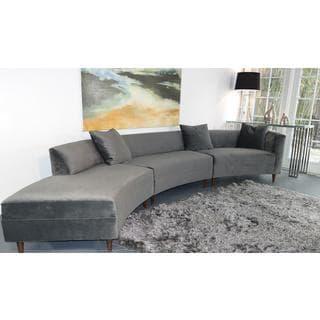 Decenni Custom Furniture Mid-Century Inspired Curva Sofa
