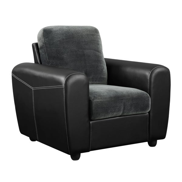 Champion Grey/ Black Microfiber Chair