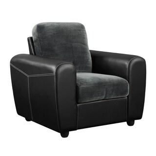 Champion Grey/ Black Microfiber Chair