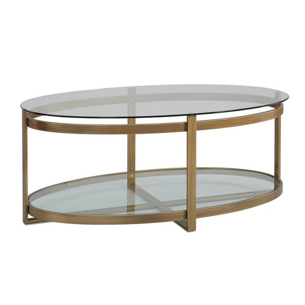 This Retro Glitz Glass And Metal Coffee Table Is A Throwback To The