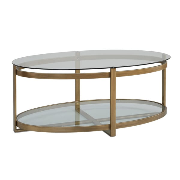 Retro Glitz Glass Metal Coffee Table