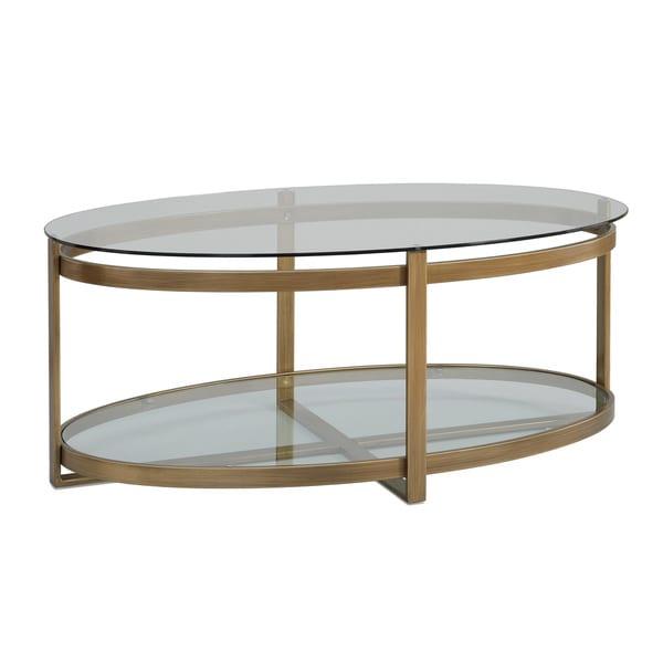 Retro Glitz Glass Metal Coffee Table Console Decor Home