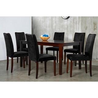 Warehouse of Tiffany 7-piece Black Shino Dining Set