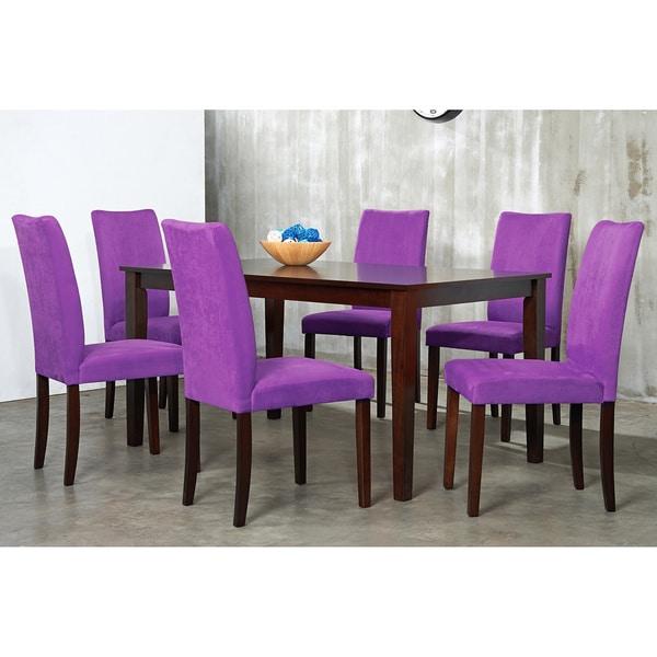 Warehouse of Tiffany 7-piece Purple Shino Dining Set