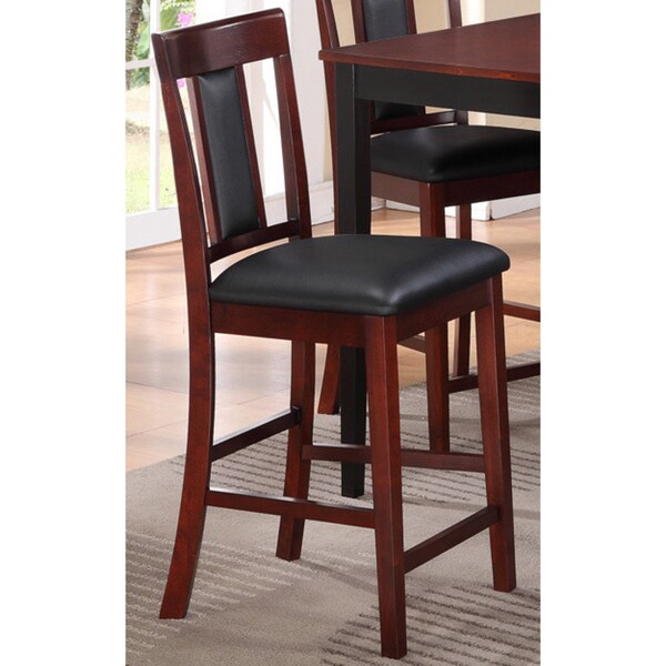 Two-tone Cherry/ Black Dining Chairs (Set of 2)