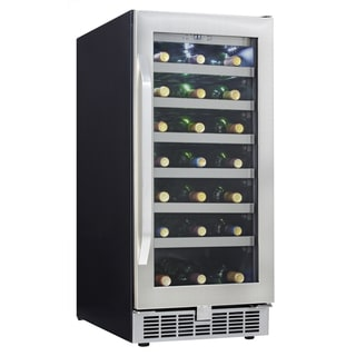 Silhouette Stainless Steel 34-bottle 3.28 cu ft Wine Cellar