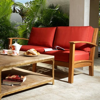 Abbyson Living Semeru Deepseater Outdoor 2-seater Sofa