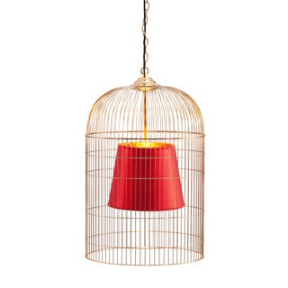 Sprite Large Gold and Red Ceiling Lamp