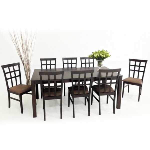 piece light cappuccino juno dining furniture set table room chairs