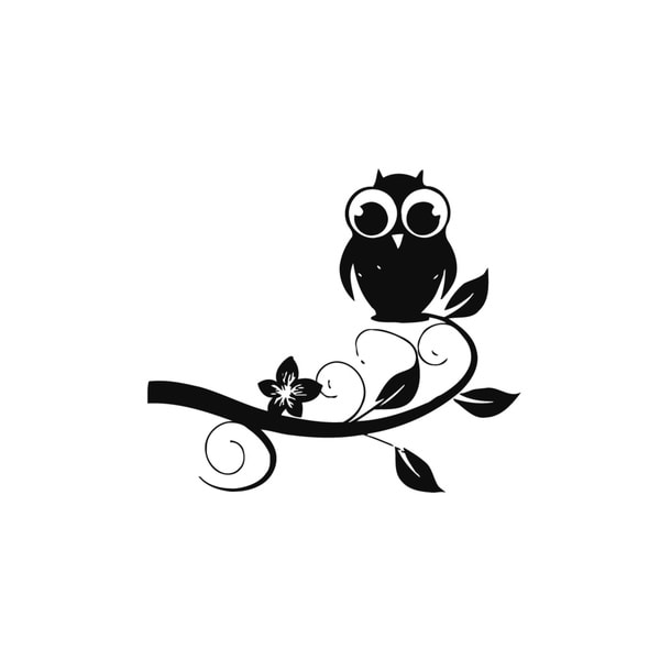 Owl with Big Eyes Vinyl Wall Art