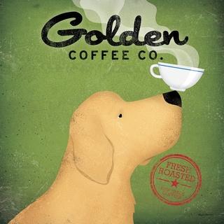 Ryan Fowler 'Golden Coffee Co.' Fine Art Giclee Print