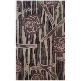 Hand-tufted Symphony Floral Forest Rug (8' x 11')