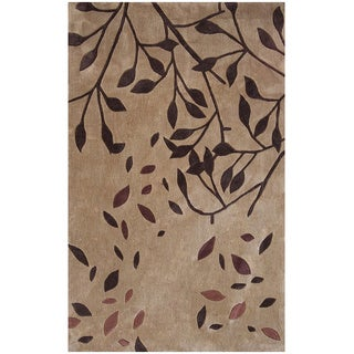 Hand-tufted Symphony Falling Leaves Rug (8' x 11')