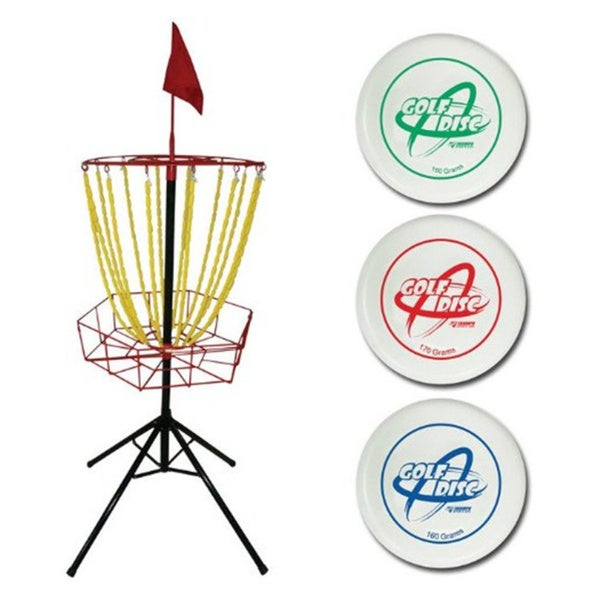 Steel Multi-colored Disc Golf Set