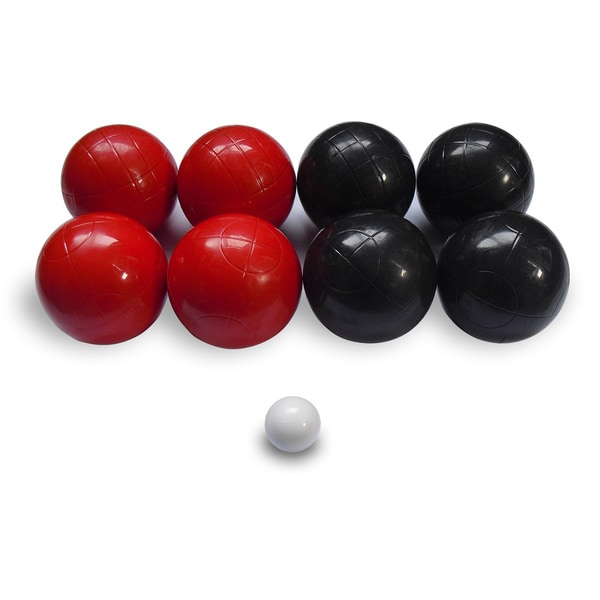 Advance Black and Red Molded 100-mm Bocce Set