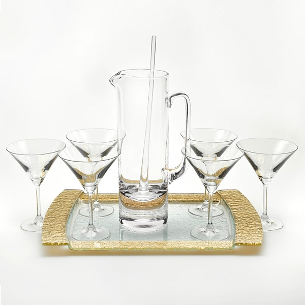 Manhattan Martini 9-piece Set with Tray