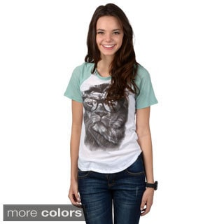 Hailey Jeans Co. Junior's Raglan Sleeve Graphic Tee