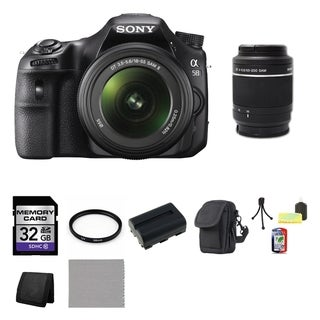 Sony Alpha SLT-A58 DSLR Camera Body with DT 18-55mm SAM II Lens and DT 55-200mm SAM Lens 16GB Bundle