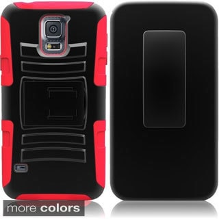 BasAcc Hybrid with Holster Stand Cover Case for Samsung Galaxy S5 SV