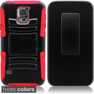 Insten Hybrid Cover Phone Case with Holster Stand for Samsung Galaxy S5 SV