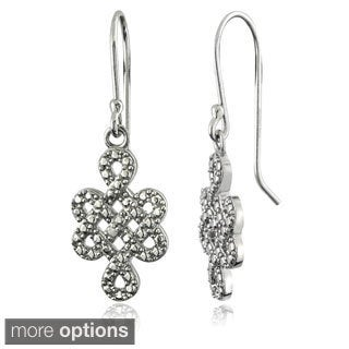 DB Designs Sterling Silver Diamond Accent Celtic Weave Dangling Earrings