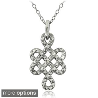 DB Designs Sterling Silver Diamond Accent Celtic Weave Necklace