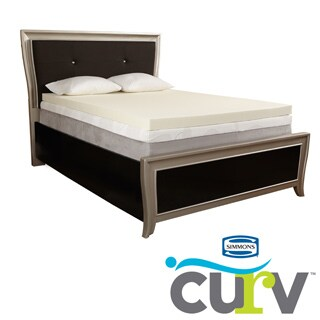Simmons Curv 2-inch Memory Foam Mattress Toppers