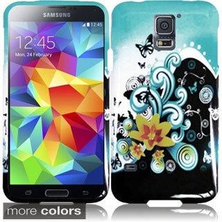 BasAcc Designed Rubberized Hard Flower Cover Case for Samsung Galaxy S5/ SV