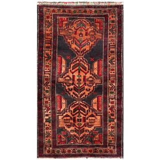 Semi-antique Afghan Hand-knotted Tribal Balouchi Copper/ Maroon Wool Rug (2'8 x 5'1)