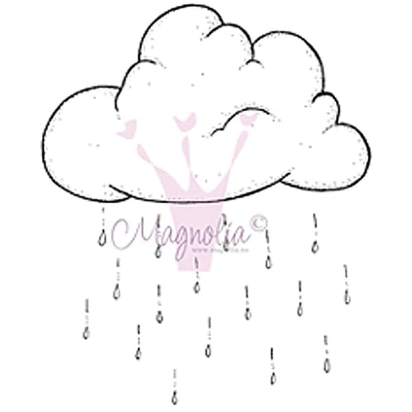 "Chasing Butterflies Cling Stamp 6.5""X3.5"" Package-Rain Cloud"