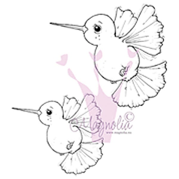 "Tilda & Edwin's Animals Cling Stamp 6.5""X3.5"" Package-Small Colibris"