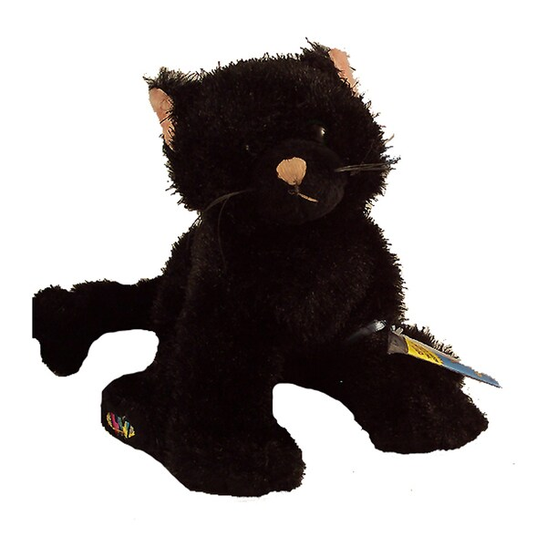 Webkinz Large Halloween Black Cat Plush Animal