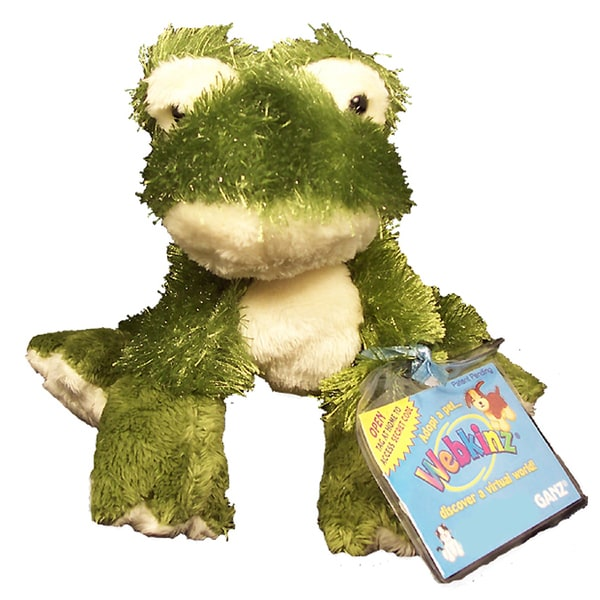 Webkinz Large Frog Plush Animal