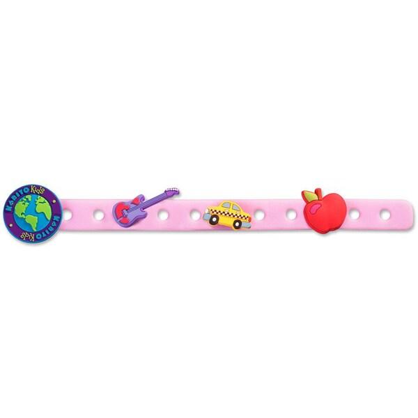 Zoe Pink Charm Bracelet with Three Charms
