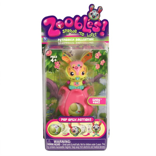 Zoobles Pop-Up Pet Bunny with Happitat