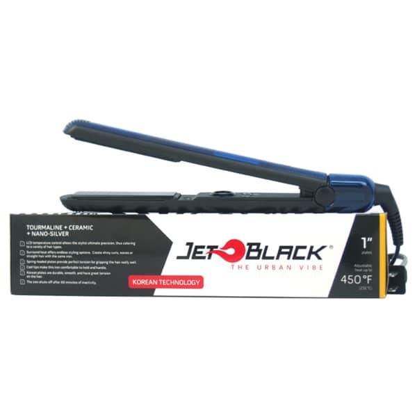 Jet Black Nano Silver and Tourmaline 1-inch Flat Iron