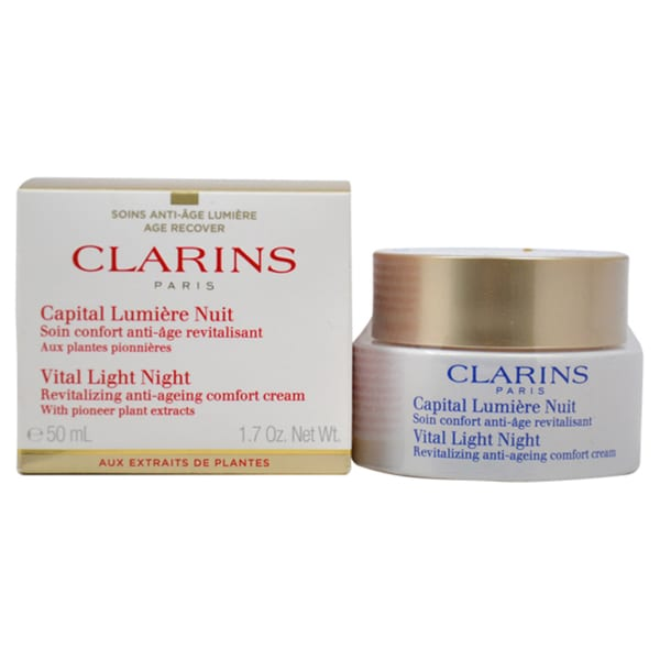 Clarins Vital Light Night Revitalizing Anti-Ageing Comfort 1.7-ounce Cream