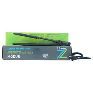 Zazen Titanium and Nano Silver Digital Professional Z-Modus Black 1-inch Flat Iron