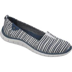 Women's Dr. Scholl's Andie Elegant Navy/White Striped Twill