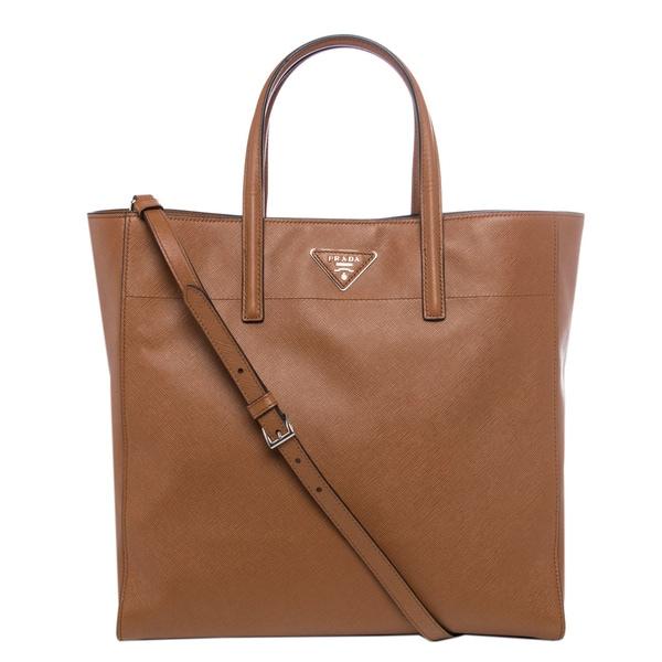 Prada Caramel Soft Saffiano Leather Tote