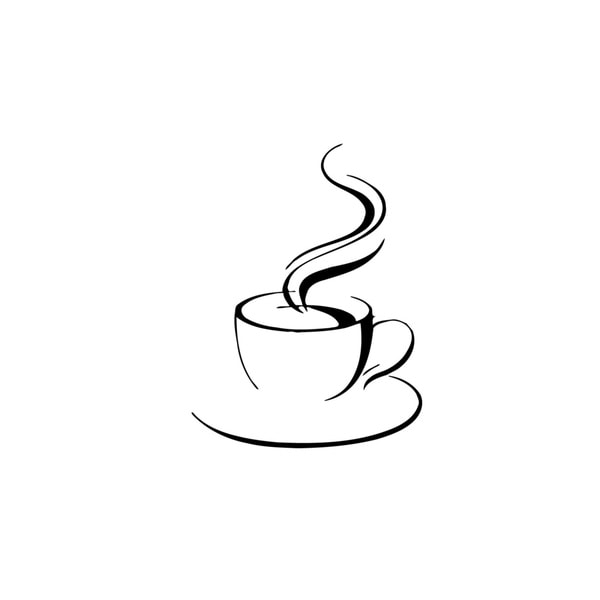 Cup of Hot Coffee Vinyl Wall Art 12960897