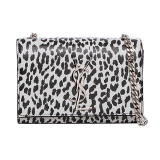 Saint Laurent 'Monogramme' Small Leopard Printed Classic Crossbody