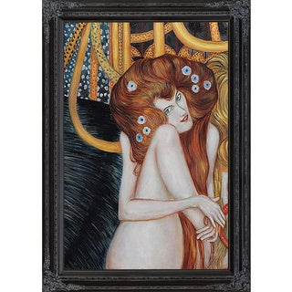 Gustav Klimt 'Beethoven Frieze' Hand Painted Framed Canvas Art