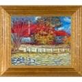 Pierre-Auguste Renoir 'Duck Pond' Hand Painted Framed Canvas Art