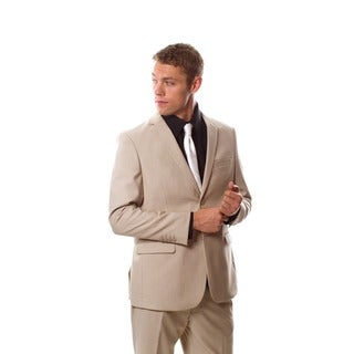 West End Men's Young Look Slim-fit 2-button Beige Suit